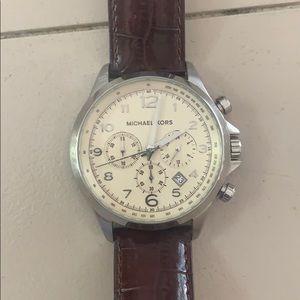 Michael Kors unisex leather watch